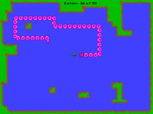 Screenshot of Lake Snake free online game.