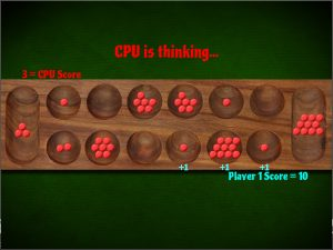 Screenshot of the computer taking a turn on Mancala online.